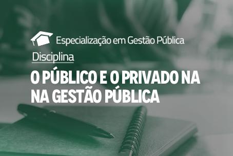 O Público e o Privado na Gestão Pública